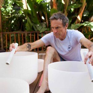 Mark Carter Teaching Crystal Singing Bowls