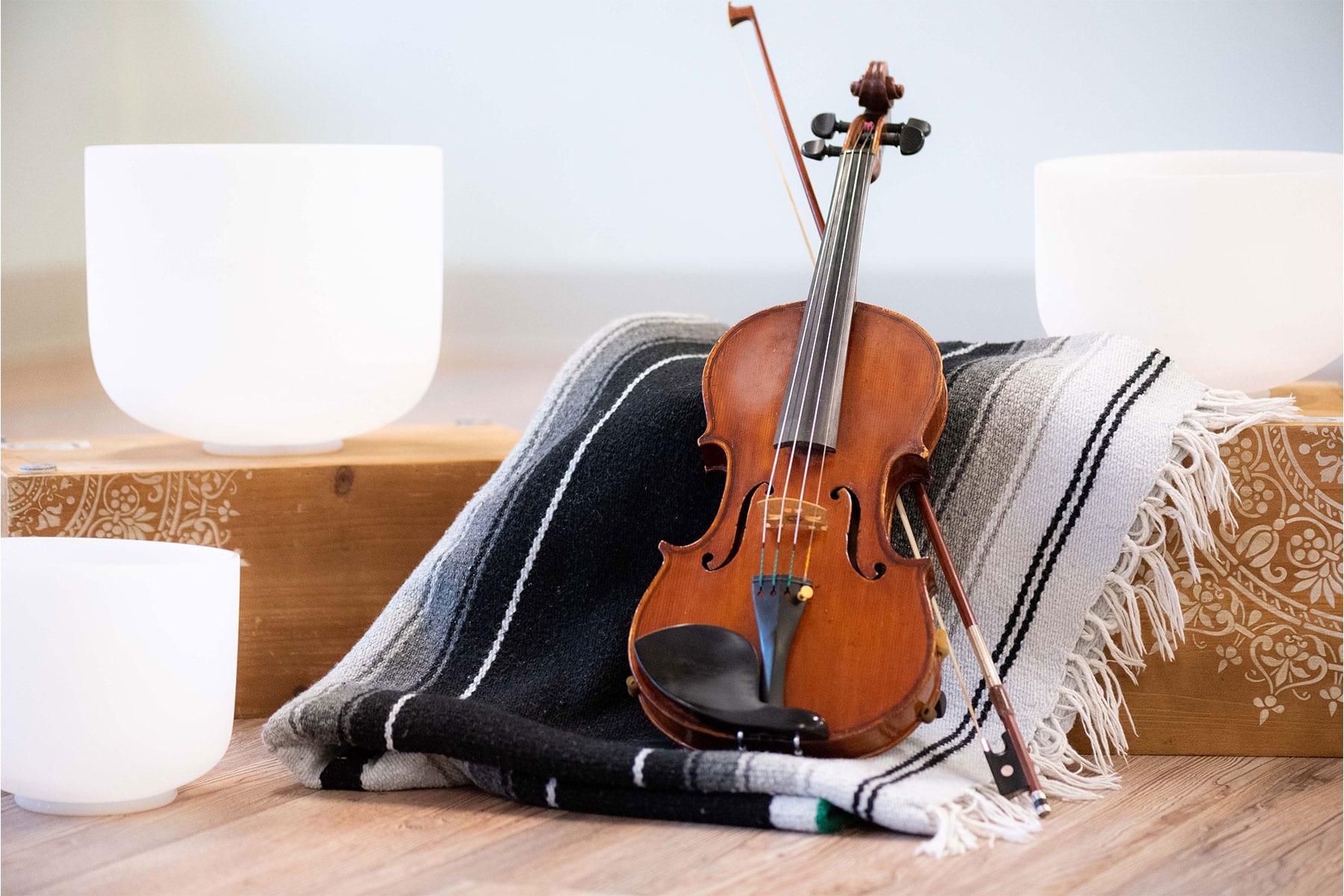 Crystal Singing Bowls And Violin