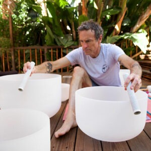Mark Carter Playing Crystal Bowls