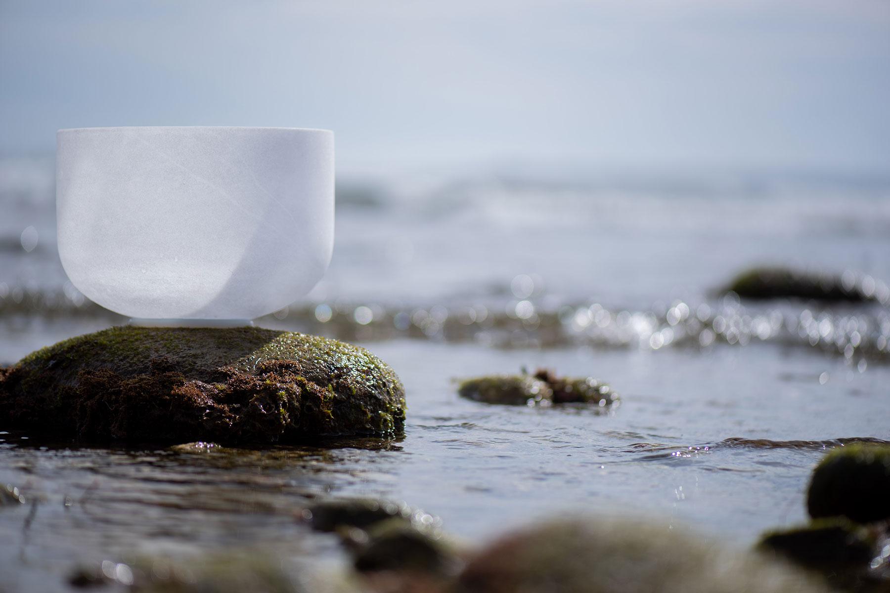 Crystal Singing Bowl By The Ocean