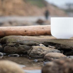 Singing bowl at the beach