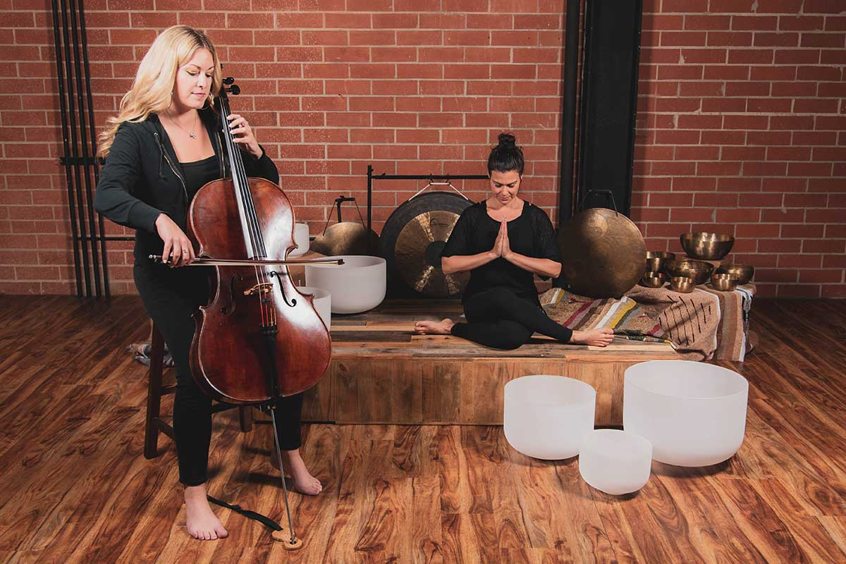 Jeny Dawson with Sarah and Cello