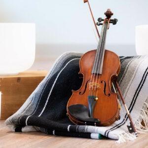 Violin with Singing Bowl